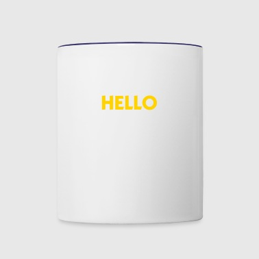 You Lost Me At Hello! - Contrast Coffee Mug