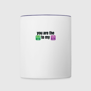 You Are The CSS To My HTML - Contrast Coffee Mug