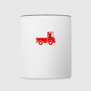 A Pickup Truck Drives To A Warehouse - Contrast Coffee Mug