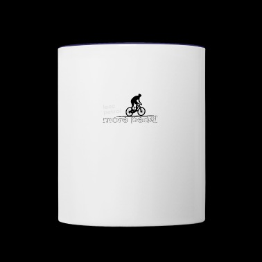 ecological cicling less petrol more pedal present - Contrast Coffee Mug