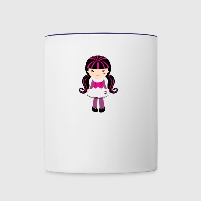 girl - Contrast Coffee Mug