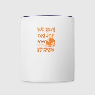 TOW TRUCK DRIVER by day witch by night - Contrast Coffee Mug