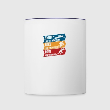 Swim Bike Run 3000px - Contrast Coffee Mug