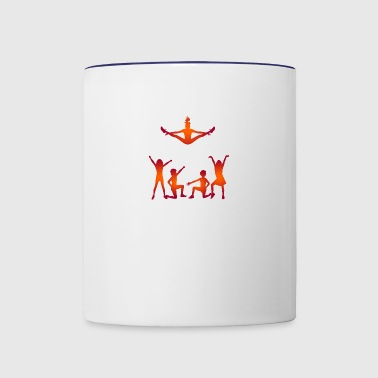 A Group Of Cheerleaders - Contrast Coffee Mug