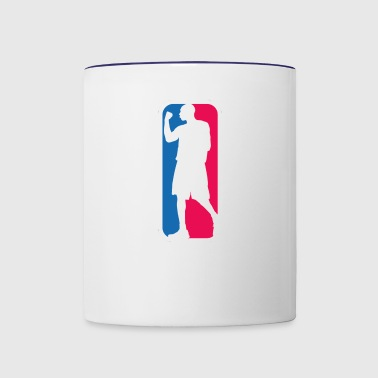 Kobe Bryant as the NBA logo - Contrast Coffee Mug