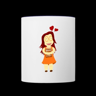 true story - Contrast Coffee Mug