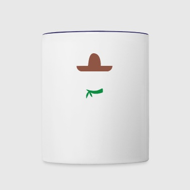 Ladies Sombrero Funny retro Mexico Mustache design - Contrast Coffee Mug