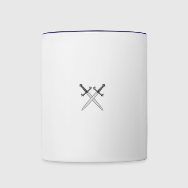 Crossed swords vector - Contrast Coffee Mug