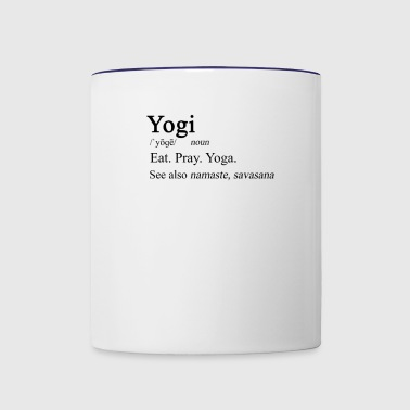Yogi Definition - Contrast Coffee Mug