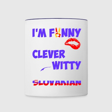 Im Funny Sexy Clever And Witty Im Slovakian - Contrast Coffee Mug