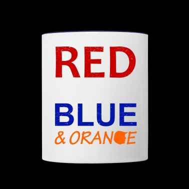 Red White Blue and Orange - Contrast Coffee Mug