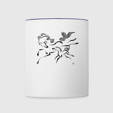 Horse and Foal - Contrast Coffee Mug