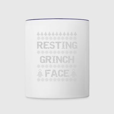 Resting Grinch Face Sweater - Contrast Coffee Mug