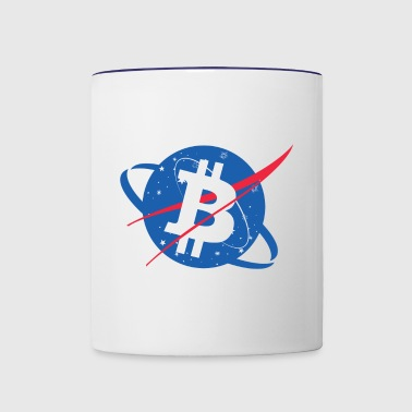 Bitcoin NASA - Contrast Coffee Mug