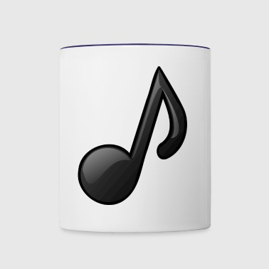 Music Note Musical Notes Instrument Gift Present - Contrast Coffee Mug