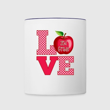 Love Second Grade - Contrast Coffee Mug