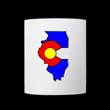 Colorado Flag Illinois State - Contrast Coffee Mug