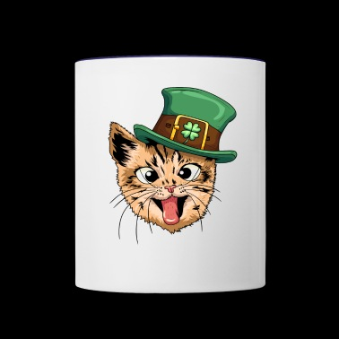 Funny Irish Cat - Contrast Coffee Mug