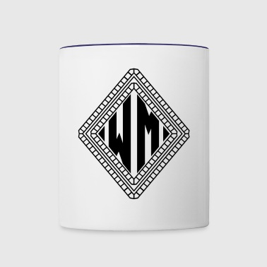 MONOGRAMS INITIALEN DIAMOND WM - Contrast Coffee Mug