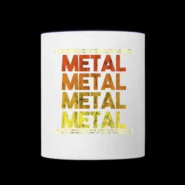 Metal Music Shirt - Gift - Contrast Coffee Mug
