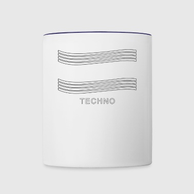 Techno music Design - Contrast Coffee Mug