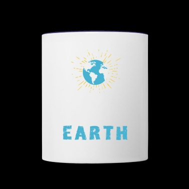 love earth Save planet eco Green demo - Contrast Coffee Mug