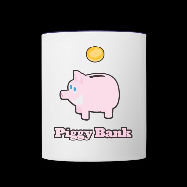Piggy Bank - Contrast Coffee Mug