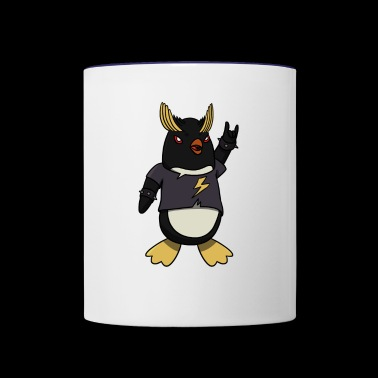 Metal Rocker Penguin - Contrast Coffee Mug