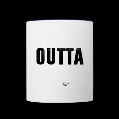 Straight Outta High School 2018 Funny Graduation - Contrast Coffee Mug