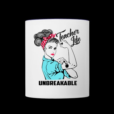 Teacher Life Unbreakable - Teacher Gift - Contrast Coffee Mug