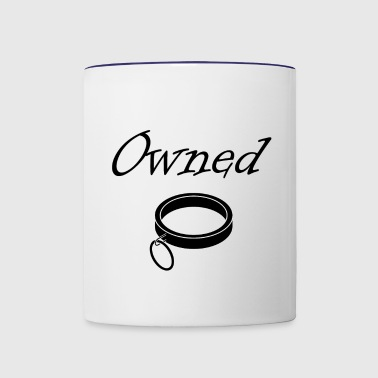 Owned BDSM Slave Submissive Devotion - Contrast Coffee Mug