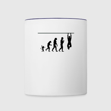 crossfit evolution, #crossfit - Contrast Coffee Mug