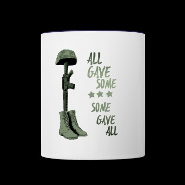 all gave some some gave all memoriam - Contrast Coffee Mug