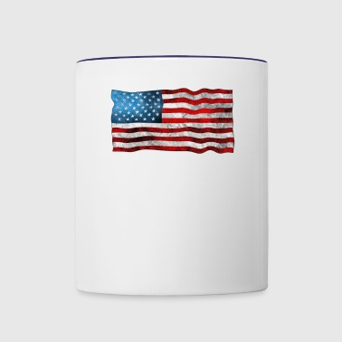 United States Grunge Flag - Contrast Coffee Mug