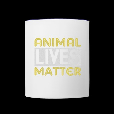 Animal Lifes Matter T-Shirt for Rescuing Animals - Contrast Coffee Mug