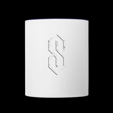 Super Cool S Grade School S 6 lines angle pointy S - Contrast Coffee Mug