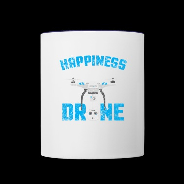 Distressed Buying Drone Is Buying Happiness - Contrast Coffee Mug
