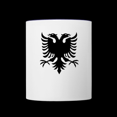 Albanian Flag Double Eagle - Contrast Coffee Mug