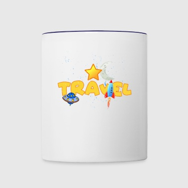 space travel adventure cool gift idea - Contrast Coffee Mug