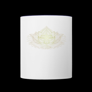 Buddhism Lotus Flower - Contrast Coffee Mug