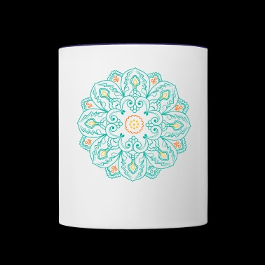 Buddhism Flower Lotus Mandala Circle - Contrast Coffee Mug