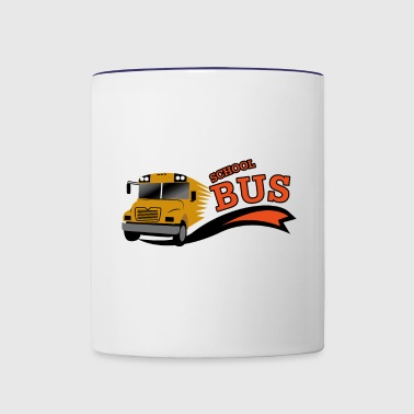 School Bus - Contrast Coffee Mug