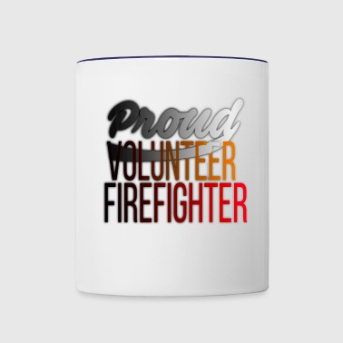 Proud Volunteer Firefighter Firefighting - Contrast Coffee Mug
