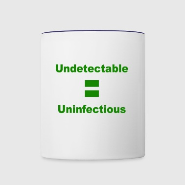 Undetectable Uninfectious Virus - Contrast Coffee Mug