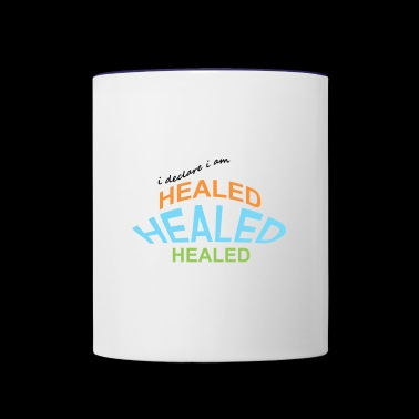 healed - Contrast Coffee Mug