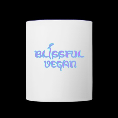 blissful vegan - Contrast Coffee Mug