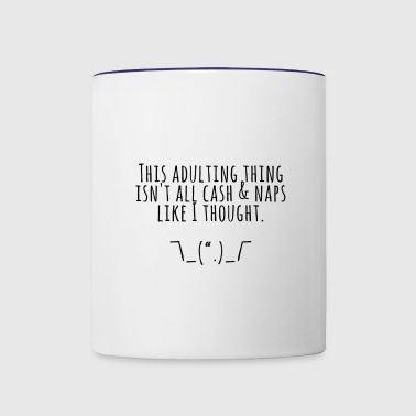Adulting - Contrast Coffee Mug