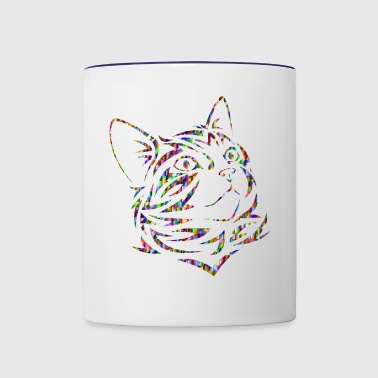 Rainbow Cat - Gift for Cat Lovers - Contrast Coffee Mug
