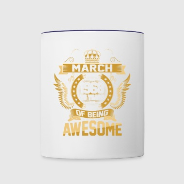 March 1968 50 Years Of Being Awesome - Contrast Coffee Mug