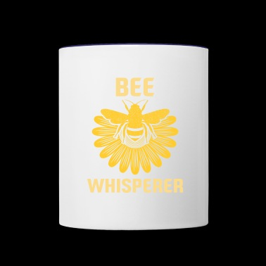 Bee whisperer bee honey beekeeper flower honeycomb - Contrast Coffee Mug